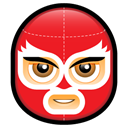 user, member, Avatar, people, person, Man, Human, Face, male, profile, Account, Mask Crimson icon