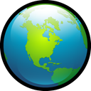 planet, world, earth, globe Black icon