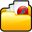 document, paper, my, File, my flash, Flash Gold icon
