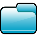 Closed, Folder, Blue LightSeaGreen icon