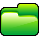 green, Folder, open LimeGreen icon