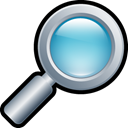 glass, magnifying Black icon