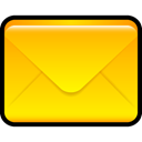 envelop, mail, Letter, Message, Email Gold icon