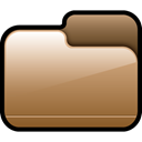 Brown, Folder, Closed Sienna icon