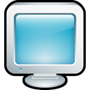 Display, monitor, screen, Computer SkyBlue icon