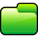 Folder, Closed, green LimeGreen icon