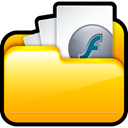 File, my swf, my, swf, document, paper Gold icon