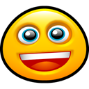 grin, Face, happy, smile, funny, Fun, Emoticon, smiley, Emotion Gold icon