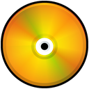 Orange, Colored, disc, Disk, save, Cd Orange icon