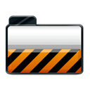 Orange, Alarm Black icon