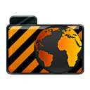 Alarm, Orange Black icon