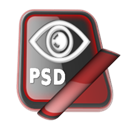 Psd Black icon