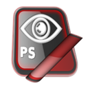 photoshop, Ps Black icon