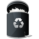 recycle, Dock, Full, Hp Black icon