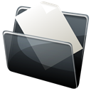 Folder, document, paper, Hp, Dock, File Black icon