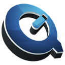 Dock, quicktime, Hp Black icon