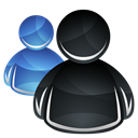 Dock, Msn, Hp Black icon