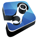 Dock, steam, Hp Black icon
