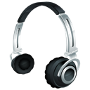 Headset, Headphone Black icon