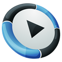 media player, Hp, Dock Black icon