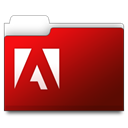 adobe, Folder Maroon icon