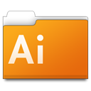 Ai, workfolders DarkOrange icon