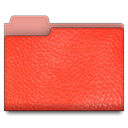 red, Folder, Leather Tomato icon