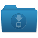 Downloads SteelBlue icon