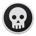 skull, Bw Gainsboro icon