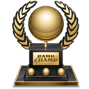 trophy, rampchamp Black icon