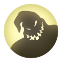 night, Shadow, Moon DarkOliveGreen icon