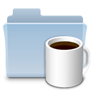 badged, Folder, food, Coffee LightSteelBlue icon