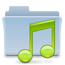 Folder, badged, music LightSteelBlue icon