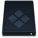 Folder, Bootcamp, drive, onyx DarkSlateGray icon