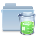 experiment, badged, Folder LightSteelBlue icon