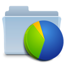 chart, Folder, graph LightSteelBlue icon