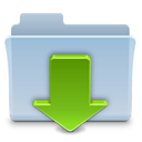 Folder, badged, Downloads LightSteelBlue icon