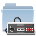 Game, gaming, Folder, badged LightSteelBlue icon