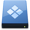 Folder, Bootcamp, xp, save, disc, Disk SteelBlue icon