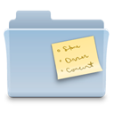 Folder, Note LightSteelBlue icon