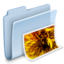 Folder, photo, image, picture, badged, pic LightSteelBlue icon