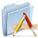 Folder, Application, badged LightSteelBlue icon