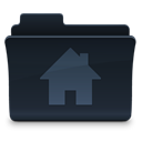 Folder, Home, Building, house, homepage DarkSlateGray icon