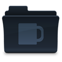 food, Coffee, Folder DarkSlateGray icon