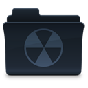 Folder, Burn DarkSlateGray icon