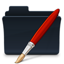 Bitmap, badged, Folder DarkSlateGray icon