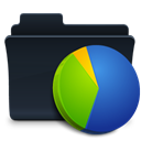 badged, chart, graph, Folder Black icon