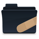 patched, Folder Black icon