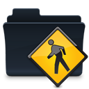 Folder, public, badged Black icon