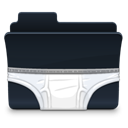 Folder, Briefs Black icon